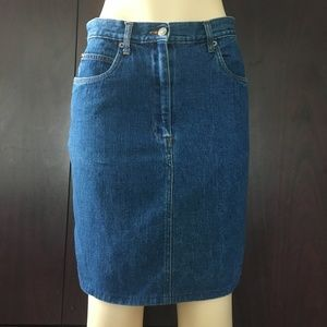 Vintage Bill Blass Jeans Denim Skirt Size 10